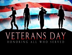 CLOSED – Veterans Day