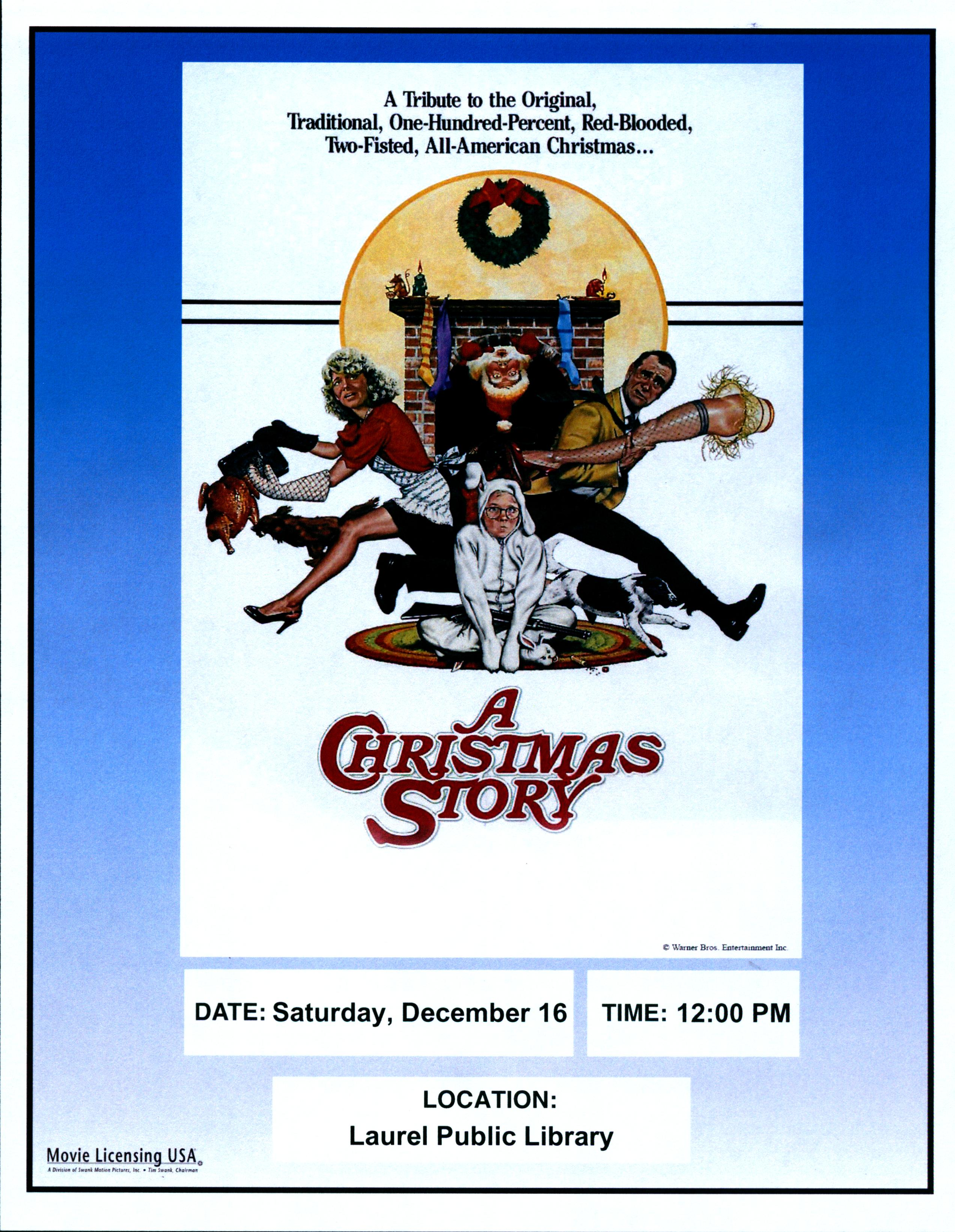 Holiday Movie at the Library – A Christmas Story