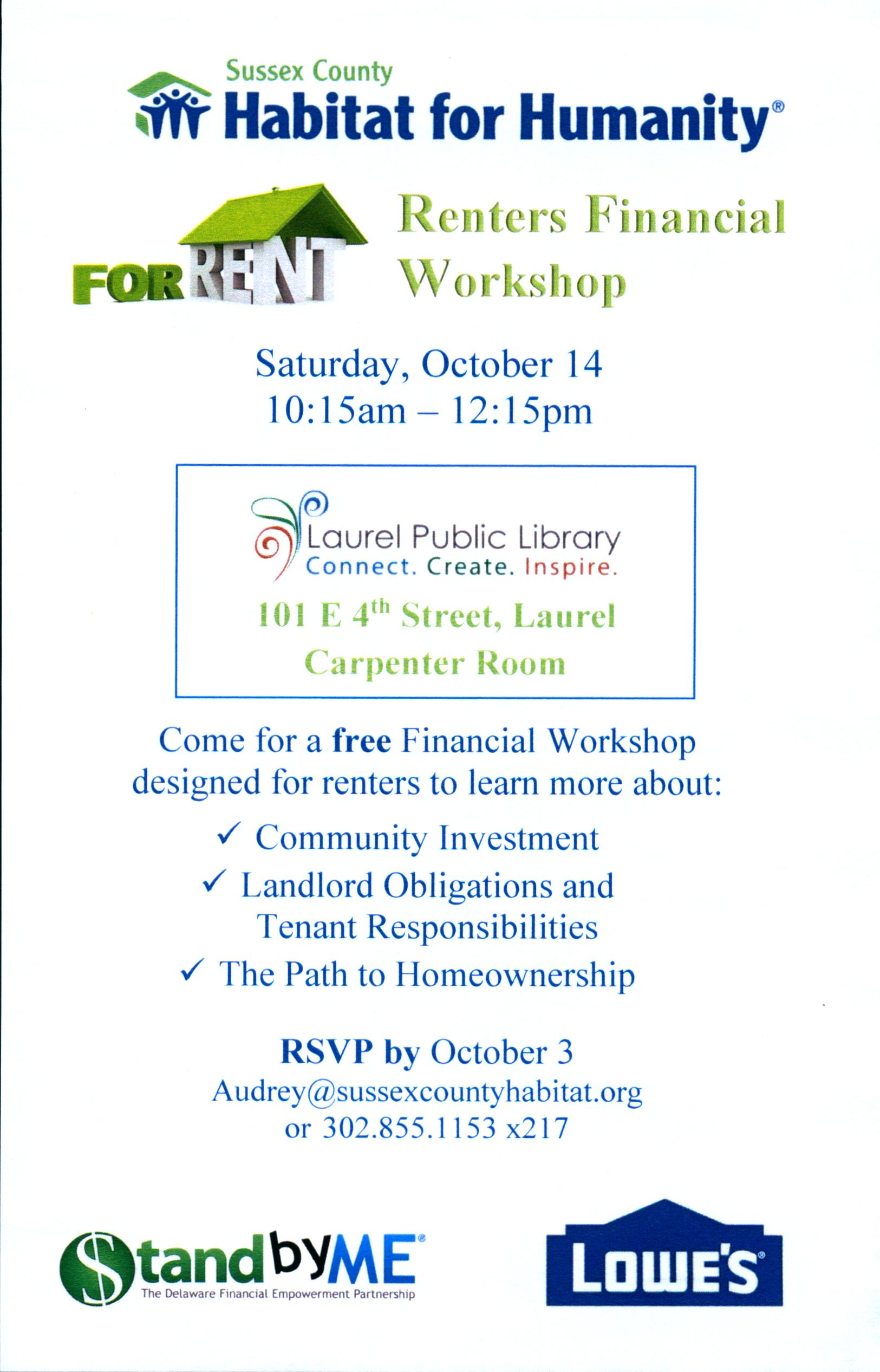 Renters Financial Workshop